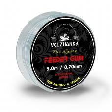 Volzhanka Feeder Gum фидерная резина 0.6мм/5м цв. прозрачный