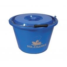 Ведро Волжанка пластиковое 17 литров с крышкой
